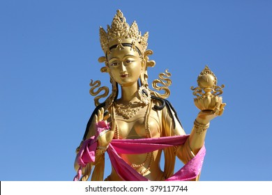 A statue of a Dakini at Kuensel Phodrang in Thimphu, Bhutan