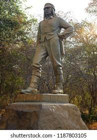 Statue of David Livingstone, Victoria Falls, Zimbabwe