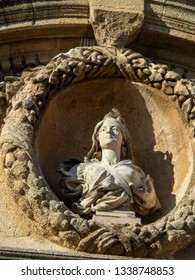 Statue at The Hôtel de Ville or Townhall of aix-en-provence, France