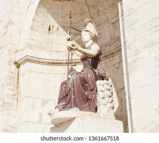 Statue of the Dea Roma. The Capitoline Hill (Campidoglio). Rome. Italy