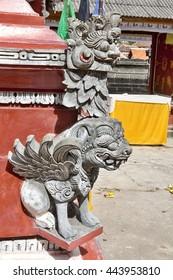 statue of a demon, Hindu ceremony Nusa Penida-Bali, Indonesia