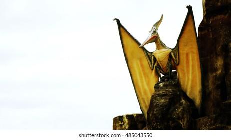 The Statue of dinosaur