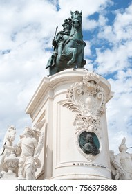 Statue of Dom Jose in Lisbon.