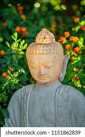 statue of doubt in the garden