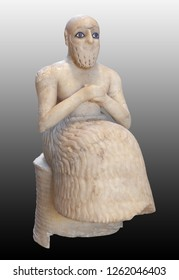 The Statue of Ebih-Il. Statue of the praying figure of Ebih-Il, superintendent of the ancient city-state of Mari in eastern Syria.