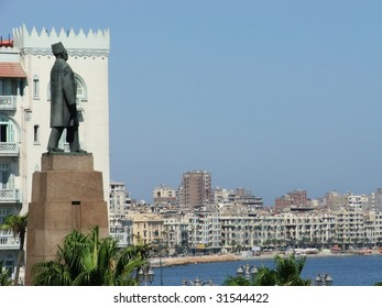 Statue of Egyptian Nationalist Saad Zaghloul Overlooking Alexandria