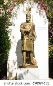 Statue of Emperor Constantine XI in Athens, Greece