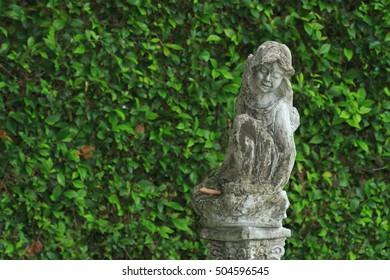 A Statue in English garden.