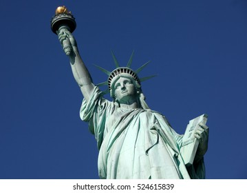 The statue of freedom tourist monument in New York