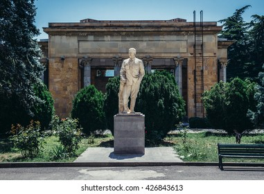Statue in front of Joseph Stalin Museum in Gori town, Georgia