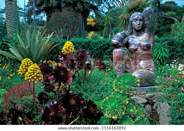 Statue Gaia Earth Mother Abbey Gardens Stock Photo (Edit Now