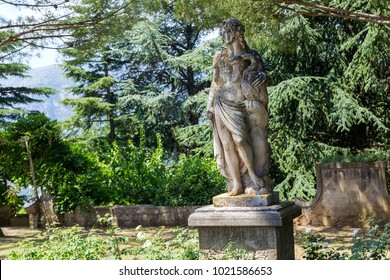 Statue in the garden of Villa Cimbrone, Ravello, Province of Salerno, Campania, Italy