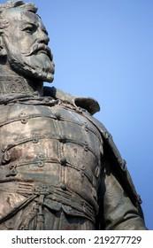 Statue of general Klapka closeup, hungarian revolution and war of independence