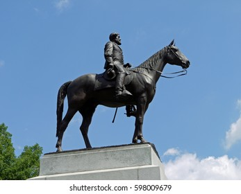 Statue of General Robert E Lee. Gettysburg Battlefield . 12th September 2016. For editorial use only