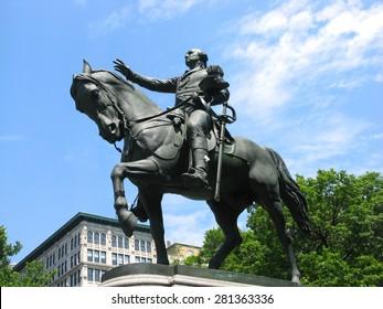 Statue of George Washington in Union Square, New York City