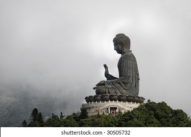 Statue of Giant Buddha in Cloud
