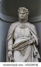 Statue of Giovanni Boccaccio in Florence, Italy