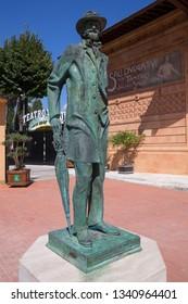 Statue of Giuseppe Verdi in front of the Teatro Verdi, Montecatini, Italy. September 14th 2018
