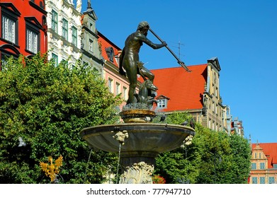Statue of the god of the seas Neptune, Gdansk, Poland
