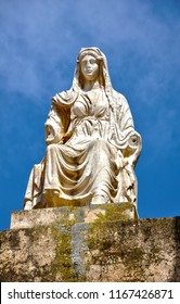 Statue of the goddess Ceres at the Roman Theater of Merida, Spain