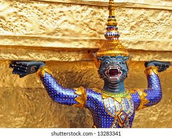 statue in Grand Palace, Bangkok