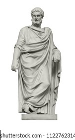 Statue of great ancient Greek philosopher Plato. Isolated on white