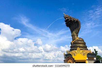 Statue of great Naga. Nakhon phanom province in Thailand.