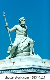 Statue of the Greek god of the sea, Poseidon, located in the port of Copenhagen