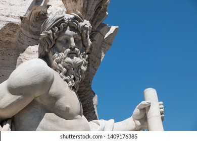 Statue of the greek God Zeus in Rome, Italy
