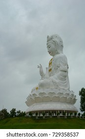 Statue   of   Guan Yin  on  the  high  mountains.