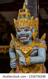 Statue at the Gunung Kawi Sebatu Temple, Ubud, Bali, Indonesia. The temple complex is located  approximately 12km northeast from the main Ubud hub.