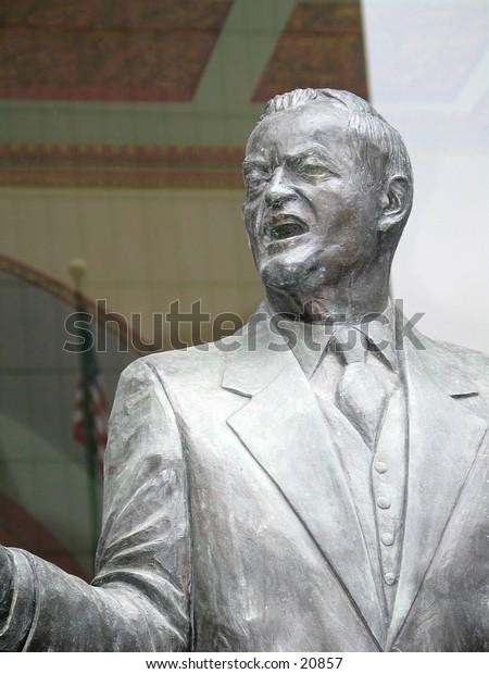 Statue of Herbert Hoover in Minneapolis, Minnesota.