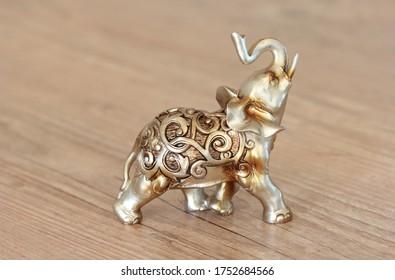 Statue of Hindu elephant Golden
