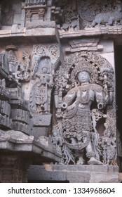 Statue of Hindu goddess, Ajanta, India