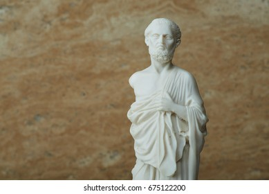 Statue of Hippocrates,ancient Greek physician.