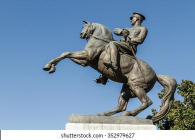 Statue of Honor aka Ataturk monument in Samsun, Turkey dedicated to the landing of Ataturk in Samsun initiating Turkish War of Independence.