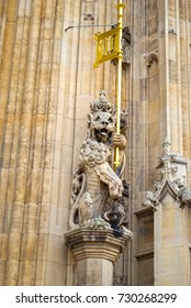 Statue in the houses of parliament, London