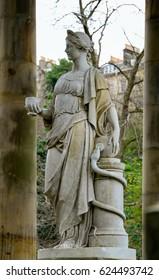 Statue of Hygieia, the Greek goddess of health, Edinburgh Scotland