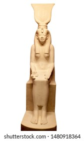 Statue of Isis Egyptian Goddess, the sister and wife of Osiris, and they had a son named Horus. She is the feminine archetype for creation, the goddess of fertility and motherhood