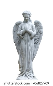 statue isolated on white background for garden or backyard