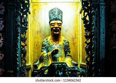 Statue at Jade Emperor Pagoda, Ho Chi Minh City in Vietnam