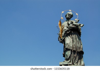 Statue of Jan Nepomucky on Charles bridge (Karluv bridge) - touch and make a wish