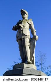 Statue of Jan van Schaffelaar in Barneveld, the Netherlands,