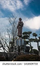 the statue of japanese samurai who is christian, nagasaki
