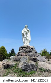 The statue of Jesus at Trappist Monastery of Our Lady of the Annunciation in Japan. Taken in Oita, April 2018
