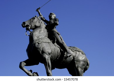 Statue of Joan of Arc at the Legion of honor San Francisco California