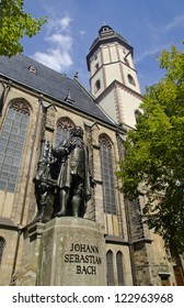 Statue of Johan Sebastian Bach at St. Thomas Church