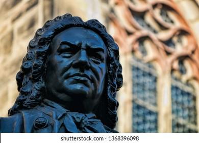 Statue of Johann Sebastian Bach in Leipzig, Germany