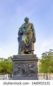 Statue of Johann Wolfgang von Goethe in Frankfurt am main, germany