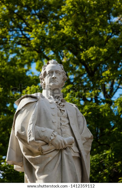 Statue Johann Wolfgang Von Goethe German Stock Image